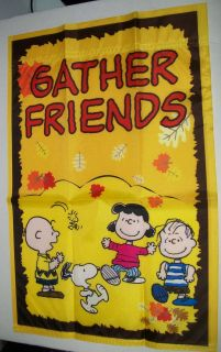 Peanuts Gang Lucy Charlie Brown Snoopy Fall Friends Small Garden Flag