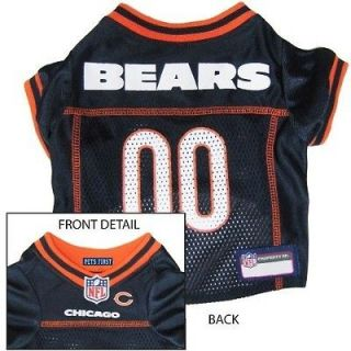 Bears Pet Dog Jersey Shirt Officially Licensed NFL XS S M L XL