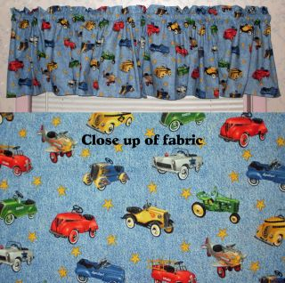 New Old Pedal Cars Tractors Fire Truck Boy Room Nursery Baby Valances