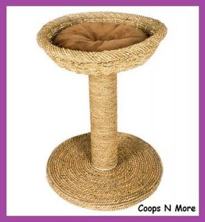 SEAGRASS SCRATCH N BED★CAT SCRATCH POST GREAT FOR ALL DECOR