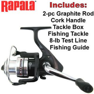 RAPALA® XI SERIES GRAPHITE XTREME 6 SPINNING ROD & REEL COMBO