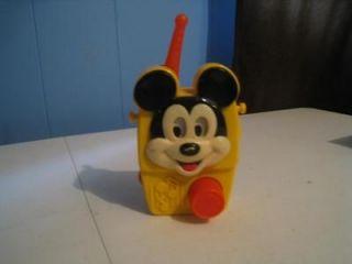 Vintage Mickey Mouse Preschool Toy Radio Wind Up Music Box L@@K