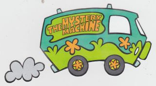 SCOOBY DOO MYSTERY MACHINE WALL BORDER PEEL & STICK CUT OUT