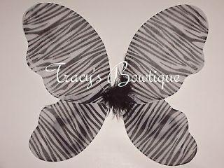 Zebra Girl Butterfly Fairy Angel Wings Dress Up Costumes Halloween