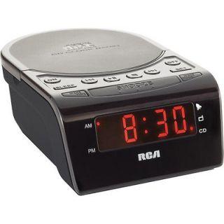 RCA AM FM CD ALARM CLOCK RADIO Wake to CD Radio or Alarm Smart Snooze