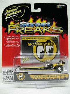 LIGHTNING STREET FREAKS MOONEYES 60S FRONT ENGINE DRAGSTER DIECAST