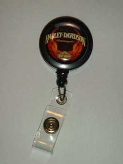 Harley Davidson ID Name Reel Retractable Badge Holder