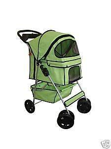 New Classic Fashion BestPet 4 Wheel Green Pet Dog Cat Stroller