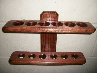 PING PONG PADDLE & BALL RACK(SOLID OAK,MAHOGANY FINISH)