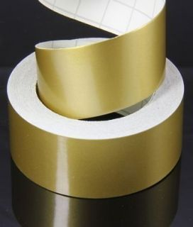 25 mm Pinstripe Gold Mat 1 Inch Trim Tape Striping Vinyl Sticker Car