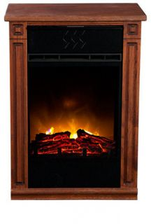 Dark Oak Heat Surge Accent EV.2 Electric Amish Fireplace