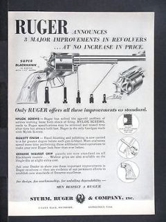 1960 RUGER Improved old mod SUPER BLACKHAWK 44 Magnum Revolver