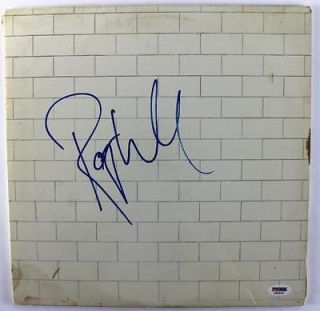 ROGER WATERS PINK FLOYD THE WALL SIGNED ALBUM COVER W/ VINYL PSA/DNA #