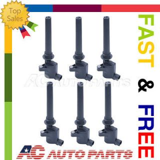 02 07 Ford Mazda 6 NEW Set of 6 Ignition Coil on Plug Coils Pack 3.0L