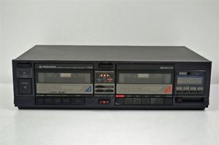 Pioneer Stereo Dual Cassette Deck Tape Player Recorder CT 1060W