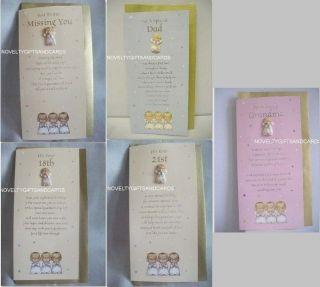 Greeting Card & Angel Lapel Pin by Hallmark Birthday choice of 5