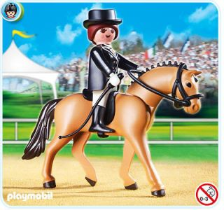 Horse with Dressage Rider and Stable Playmobil Toy 5111 New In Box