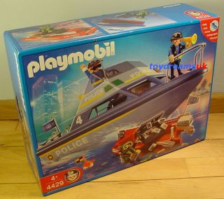 playmobil police boat in Playmobil