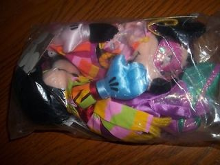 MICKEY MOUSE MINNIE Stuffed Plush Beanie Mardi Gras DISNEY Dolls Bean