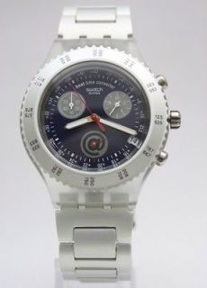 New Swatch Irony Diaphane Skyrider Chrono Aluminum Watch 44mm