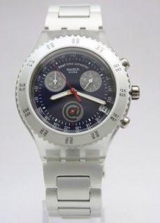 New Swatch Irony Diaphane Skyrider Chrono Aluminum Watch 44mm