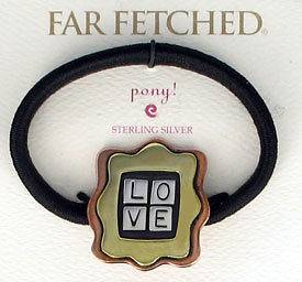 STERLING FAR FETCHED LOVE PUZZLE PONY TAIL HOLDER