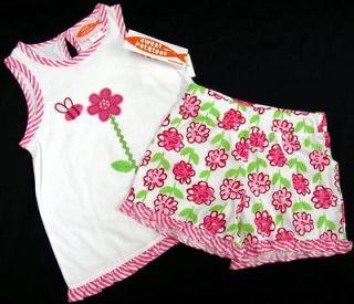 NWT Girl Summer 2 Pc. Sweet Potatoes Floral Top Shorts Szs. 5 & 6