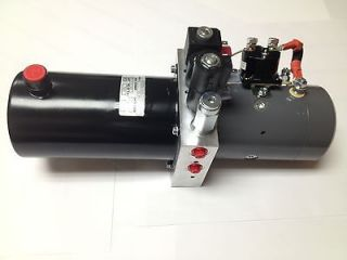 Snow Plow 12V DC Hydraulic Power Pack Double Acting Supply Unit 2qt