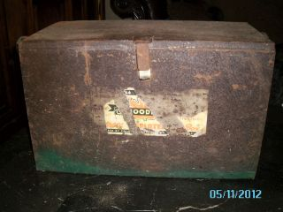 Vintage Metal Ice Box/Cooler Milk Container, Portable Cooler