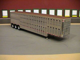 DCP WILSON TRI AXLE CATTLE POT TRAILER 1/64 DIECAST PROMOTIONS CHROME
