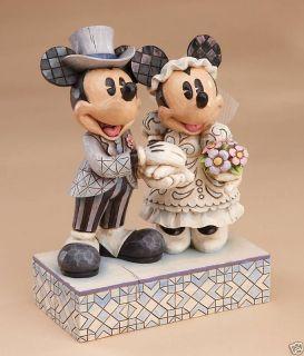 PRECIOUS MOMENTS DISNEY Figurine MICKEY MINNIE WEDDING Honeymoon