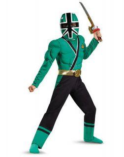 Power Rangers Samurai GREEN Ranger Costume M 7 8 Forest Boys Child Kid