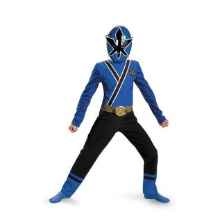 Power Rangers Blue Ranger Samurai Classic Child Costume Size 7 8