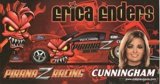 2010 NHRA PS Mustang Handout Hero Card Erica Enders