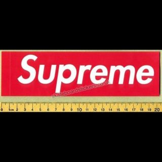 Supreme Box Logo Skateboard Clothing Sticker Red NYC skate bmx street