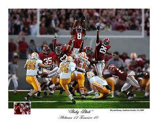 ROCKY BLOCK TERRENCE CODY ALABAMA CRIMSON TIDE FOOTBALL S/N PRINT