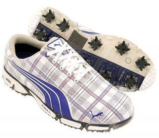 New Mens PUMA Super Cell Fusion Ice Golf Shoes Plaid/Black Sz 10.5