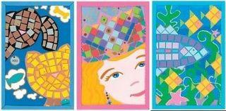 New Darice FOAMIES MOSAIC ART KIT Glitter Peel Stick Kids Craft
