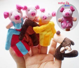 NEW~~Finger Puppet story (The Three Little Pigs).plush toys story