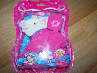 Piggies Pig Fashion Set Clothes Pink Cozy Bath Robe & Towel Outfit New