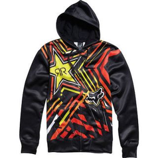 FOX RACING/RIDERS Black ROCKSTAR SPIKE VORTEX Zip HOODIE SWEATSHIRT