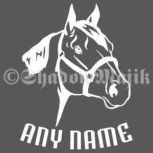 Inch Personalized Vinyl Decal   Quarter Horse Head
