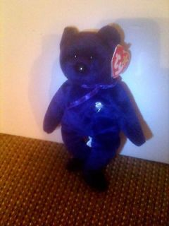 RARE ORIGINAL PRINCESS DIANA BEANIE BABY WITH P.E. PELLETS