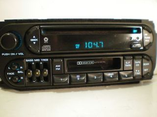 DODGE NEON/DAKOTA/STRATUS CHRYSLER SEBRING CD&CASSETTE PLAYER RADIO