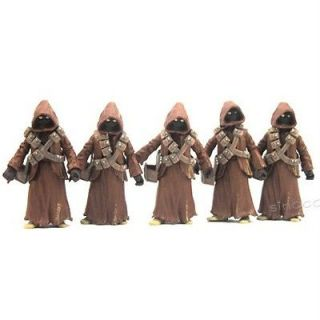 5X Star Wars JAWA DROID Figures Movie Rare SU99