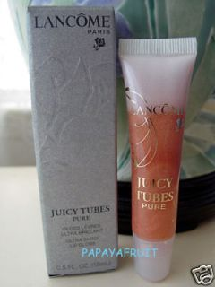NIB Lancome Juicy Tubes Pure Raw Lip Gloss~BARE HONEY~