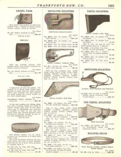 1931 Vintage Leather Holster Hawkins Recoil Pad AD
