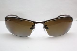 New Ray Ban Brown Gradient Lens Polarized Sunglasses RB3183 014/T5 63