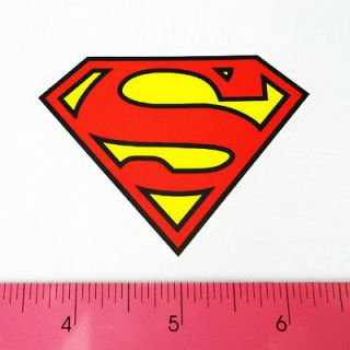 Car Window Bumper PVC Laptop Clear Decal Sticker   Superman Red Logo