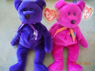 Beanie Babies RARE, Princess Diana and Millenium MINT